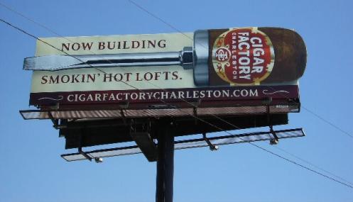 New Cigar Factory Billboard on I-26