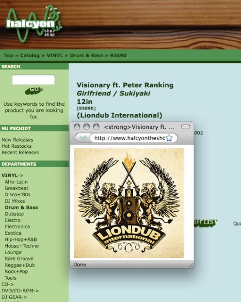 HOOK Logo on LionDub Vinyl