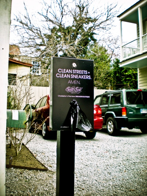 Keeping the Streets Clean with Suite Sole Branded Doggie Bag Dispensers.