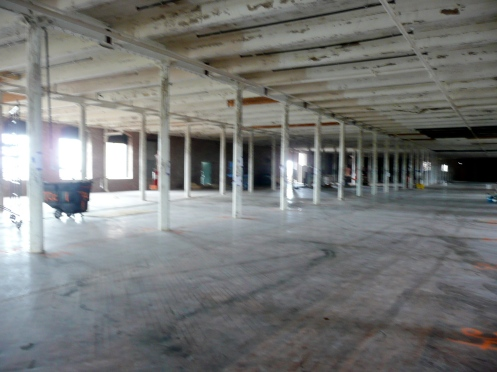 Gutted Second Floor Shows Just How Massive The Cigar Factory Is.